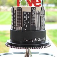 NYC Engagement Cake