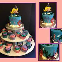 Mermaid Cake & Cupcake Tower