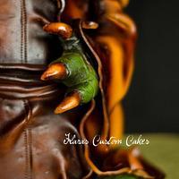 3D Yoda Cake by KarasCustomCakes
