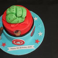 Avengers Cake by Sue