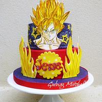 """""""Goku Sayan 1"""" cake"""