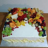 Simple fruit cake