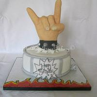 'I wanna Rock and Roll all night' Birthday Cake.