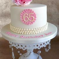 Rose and pearls birthday cake