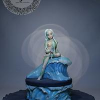 Pisces girl on a special birthday cake