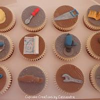 Workman, Builder theme cupcakes