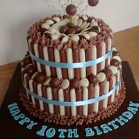 My sons Chocolate birthday cake x