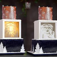 Shadow Light Nativity Cake