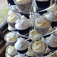 Lace Wedding Cupcakes