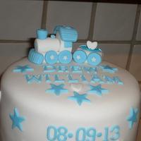 Boys Christening Cake & Cupcakes