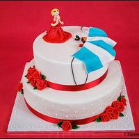 Skidiving wedding cake