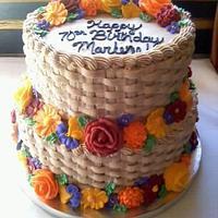 Flower Basket Cake