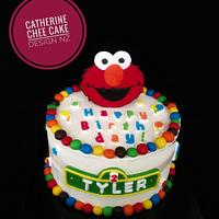 Colourful Elmo birthday cake
