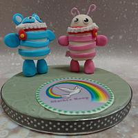 Sugar art Tegen Pesten vzw MATHI'S Hoop- Collaboration by Stertaarten (Star Cakes)