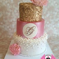 Gold, Pearls, and Pink Baby Shower