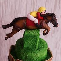 Horse racer cake