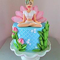 Lady Yoga Cake.