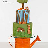 Beatrix Potter themed cake featured in Cake Central Magazine