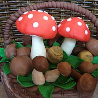 A basket of mushrooms by Claudia Consoli