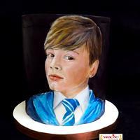 Joshua portrait. Cake