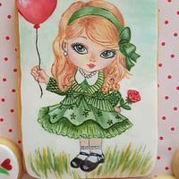 Green-eyed sweetheart