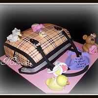 Burberry Diaper Bag Cake