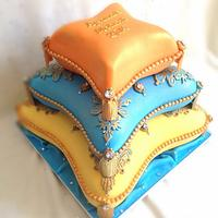 Pillow cake for henna ceremony