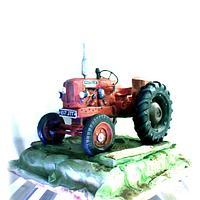 vintage tractor cake :-)