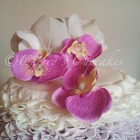 Purple Ombré Wedding Cake by Cherry's Cupcakes