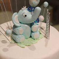 The Little Blue Elephant Cake  by MyCreations