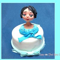 "Cake topper ""Blue eyes"""