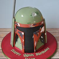Boba Fett Helmet cake
