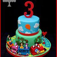 Choo Choo Mickey Cake