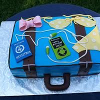 Suitcase cake for the avid traveler