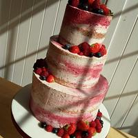 mottled naked cake