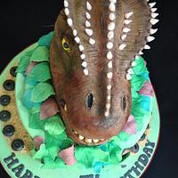 Aarons Allosaurus Cake!  by Kazza