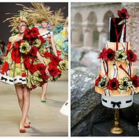 Viktor&Rolf fashion inspired cake