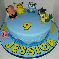 Pokemon birthday cake & cupcakes