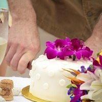 Simple Single Tier Wedding Cake