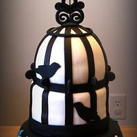 Vintage Bird Cage Cake