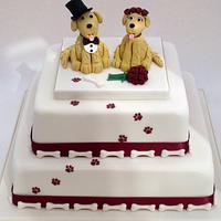 Golden Retriever Novelty Wedding Cake