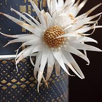 GOLD&NAVY BLUE WEDDING CAKE by Jessica MV