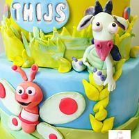 Sweet baby tv cake