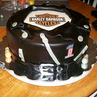 Harley Davidson Leather Jacket cake