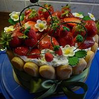 Strawberry cake by marta