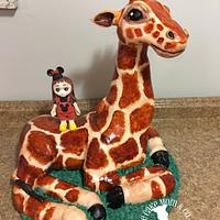 Sculpted Giraffe Cake