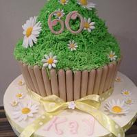 Giant Daisy Cupcake
