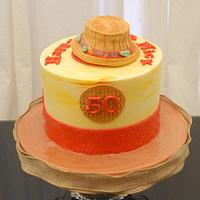 Fedora Hat on a Cake