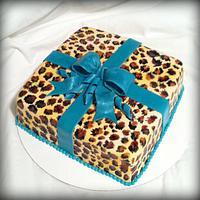 Cheetah Gift Cake