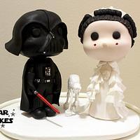 Star Wars wedding cake Vader and Amidala by Star Cakes